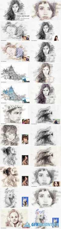 PENCIL SKETCH ART PHOTOSHOP ACTION 1821521 » Free Download