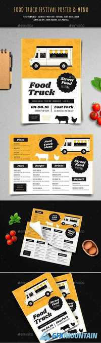 Food Truck Festival Flyer & Menu 20703783