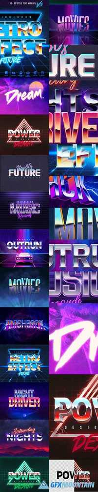 80'S STYLE TEXT MOCKUPS V3 - 20546610