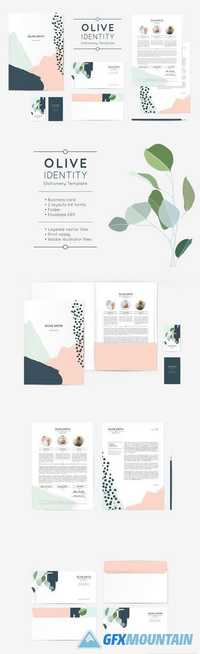 Olive Identity Stationery Template 1903119