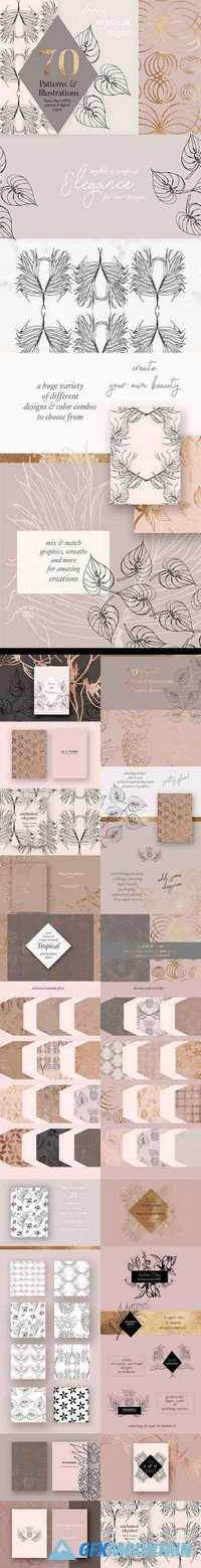 Autumn Gold Patterns & Illustrations - 1795775