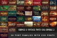 230 Grunge, Retro and Vintage Fonts