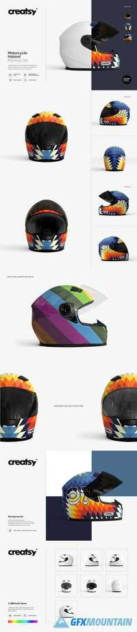 MOTORCYCLE HELMET MOCKUP SET - 1883825