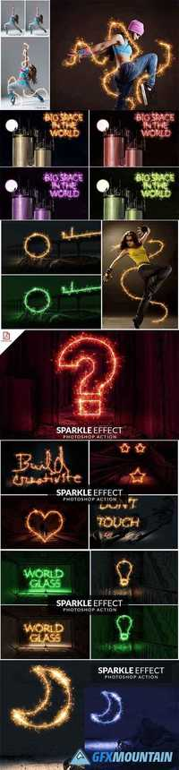 Sparkle Effect Photoshop action 1871076