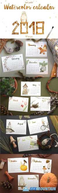 WATERCOLOR CALENDAR 2018 - 1883299