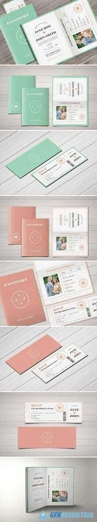 PASTEL PASSPORT WEDDING INVITATION 1883950