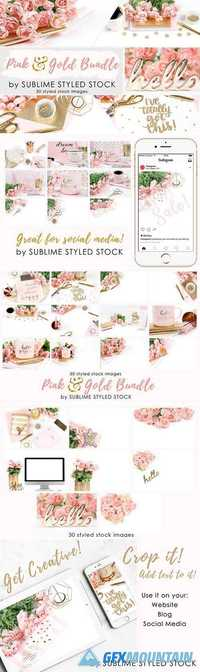 Bundle ~ Pink and Gold, bundle of 30 1872085