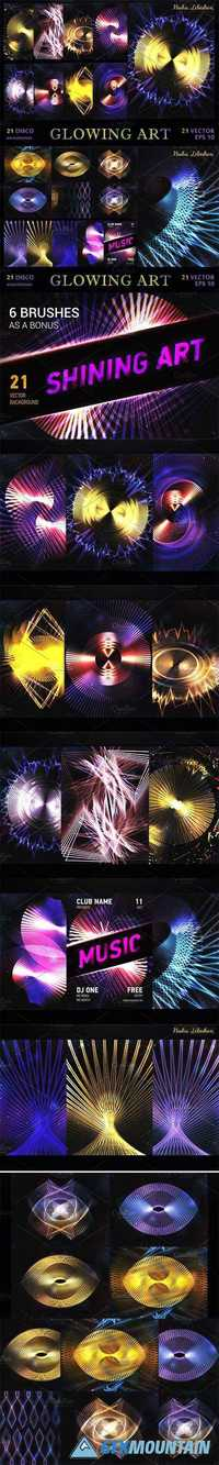 SET 21 Shining abstract background 1924553