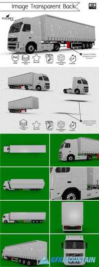 BLANK TRUCK TRAILER TRANSPARENT BACK - 1347775