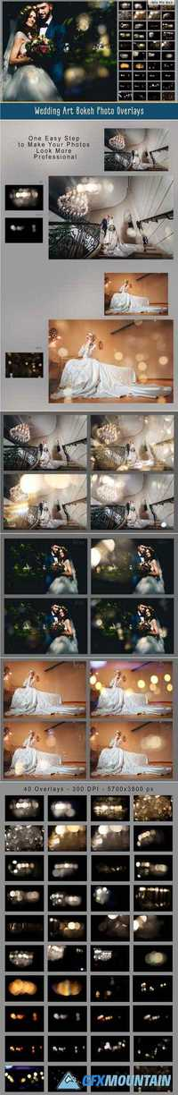 WEDDING ART BOKEH PHOTO OVERLAYS - 1520527