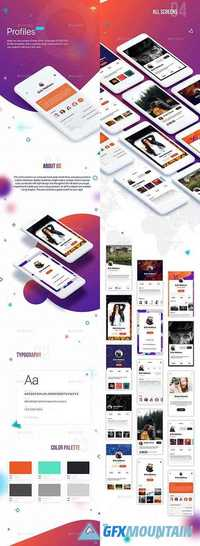 Profile Mobile UI Kit 20962004