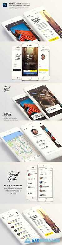 Travel Guide Mobile App UI -  1391823