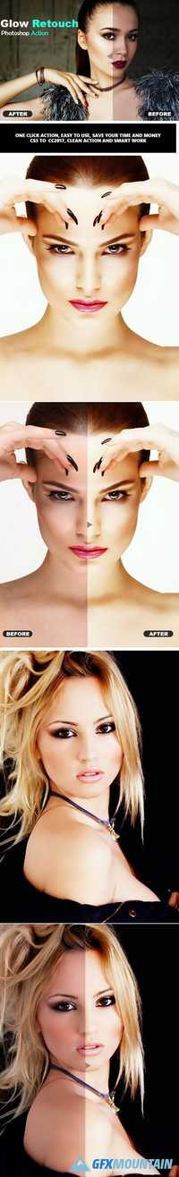 Glow Retouch Photoshop Action 20924703