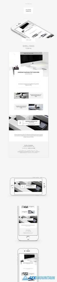 Clean E-newsletter Template - CM 1441166