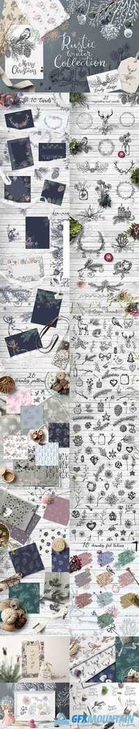 WINTER HAND DRAWN RUSTIC GRAPHIC SET 2022433