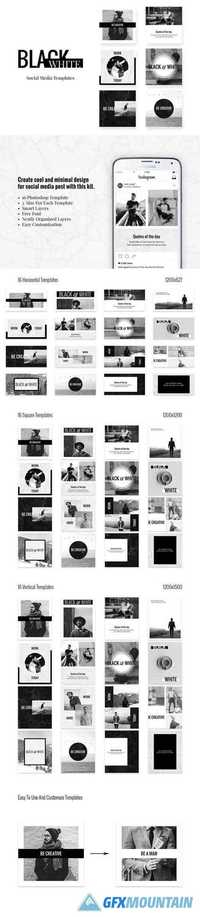 Social Media pack - BlackWhite 2023257