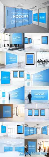 OFFICES POSTERS, BILLBOARDS MOCKUPS - 1467581