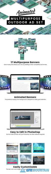 Animated Multipurpose Outdoor Ad Set 2058538