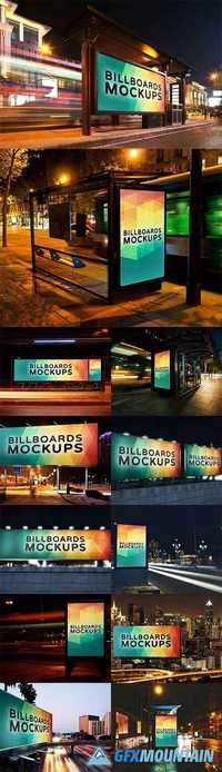 BILLBORAD MOCKUPS AT NIGHT VOL.1 - 1463849