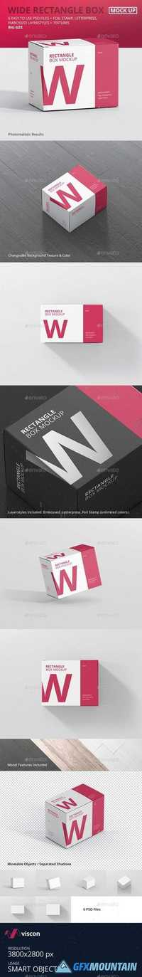 Box Mockup - Wide Rectangle Big Size 21042910
