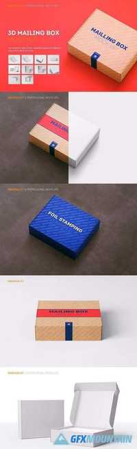 Shipping Mailing Box Mock-up 2091413