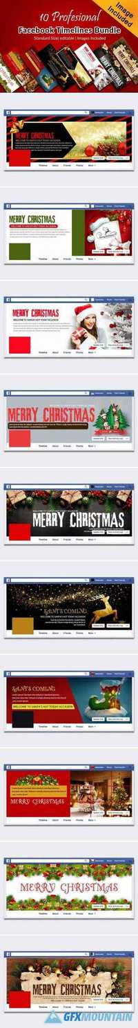 10 CHRISTMAS FACEBOOK COVER BUNDLE 2057422