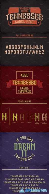 Tennessee Vintage Label Typeface 1812016