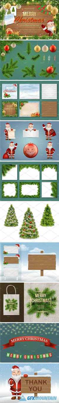 SET FOR MERRY CHRISTMAS CARDS - 2028324