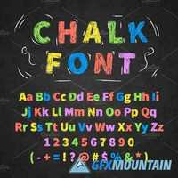 COLORFUL RETRO HAND DRAWN CHALK FONT 2072237