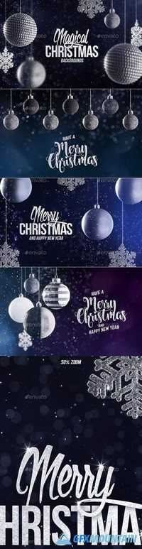 4 Christmas Backgrounds with Editable Text 21003151