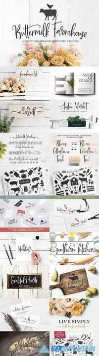 Buttermilk Farmhouse Type & Graphics 1464048