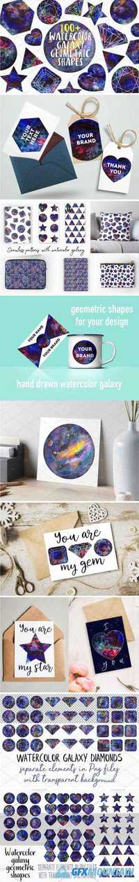 WATERCOLOR GEOMETRIC SHAPES - 2140841