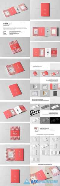 FOUR-FOLD A5 BROCHURE MOCK-UP - 21127458