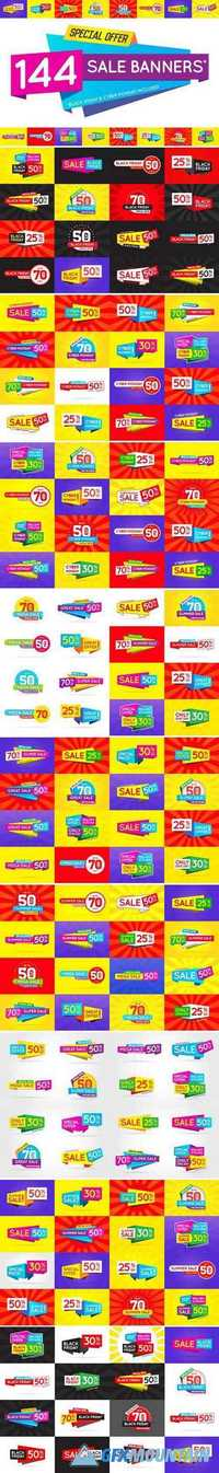 144 AWESOME SALE BANNERS (+BF & CM) 2063774