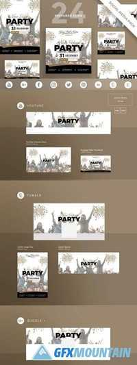 Social Media Pack New Year Party 2095212