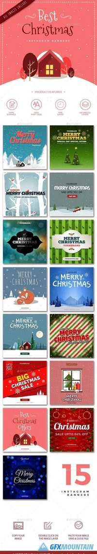 15 Christmas Instagram Banners 21022559