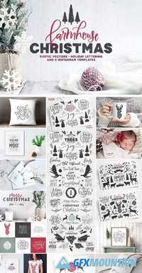 Farmhouse Christmas Kit 2040075 » Free Download Graphics, Fonts