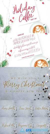 Holiday Coffee Script Font 2163093