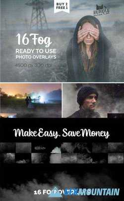 16 FOG PHOTO OVERLAYS - 1945831
