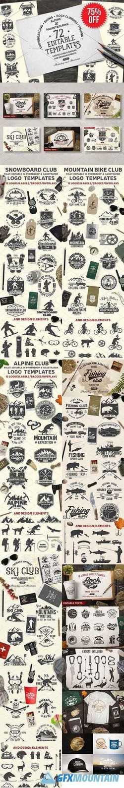 Vintage Adventure Logo Bundle 2147990