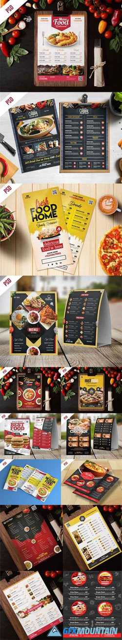 Fast Food Restaurant Menu - 10 Flyer PSD Templates
