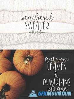 Weatherd Sweater – A Font Duo 1773345