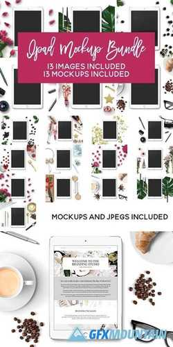 IPAD MOCKUP BUNDLE - 13 MOCKUPS!! 1877134