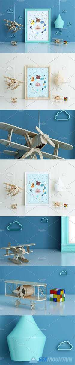Kids Room Frame Mockups airplane 2168760