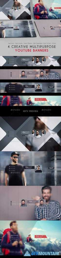 Creative Multipurpose YouTube Banners 21086002