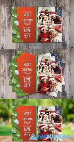 Bright Christmas Card Template 2030870