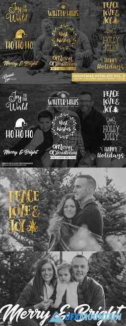 Gold Foil Christmas Photo Overlays 2162726