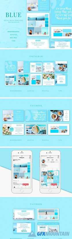 BLUE | Social Media Templates Pack 2100850