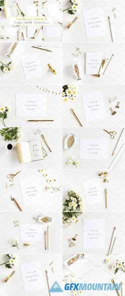 THE DAISY BUNDLE - 12 MOCKUPS +PHOTO 2102723