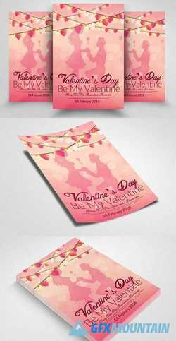 Be MY Valentine Flyer Template 2172372